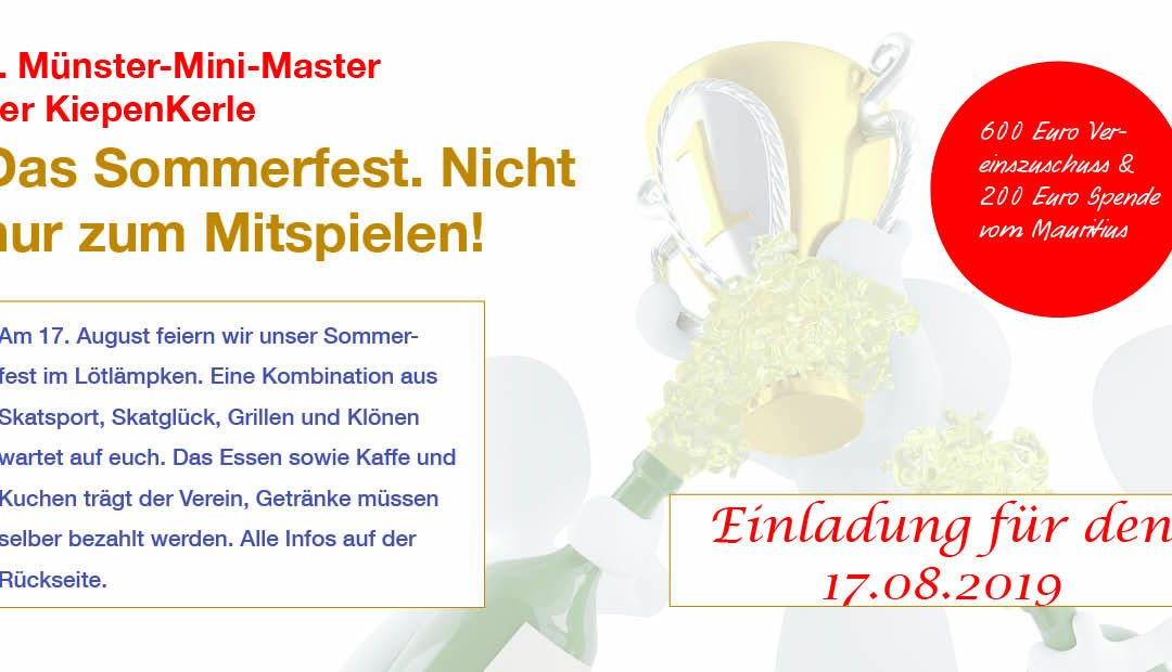 Das 1. Münster-Mini-Master